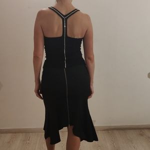 Cristinaeffe (Italy) Black Skirt With Zipper